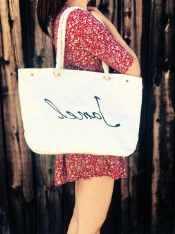Large Canvas Tote Bag-Beach Bags-Travel Picnic Gym -Summer T