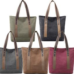 Large Canvas Tote Bag Handbag Shopping School Shoulder Noteb
