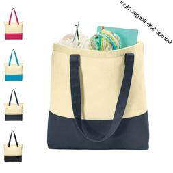 Large Cotton Canvas Tote Bag Shopping Bag Market Grocery Tot