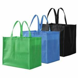 Tosnail Large Reusable Handle Grocery Tote Bag Shopping Bags