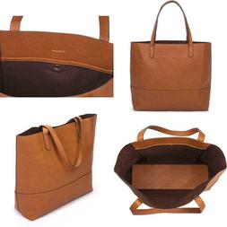 Overbrooke Large Vegan Leather Tote  Womens Slouchy Shoulder