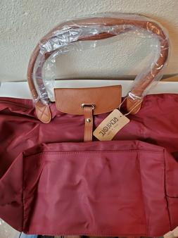 Bekilole Large Waterproof Faux Leather Trim Foldable Shoulde