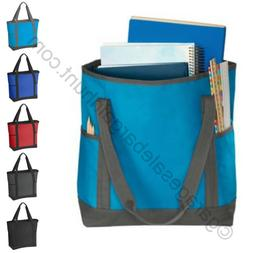 Large Zip Tote Bag Book Shopper Teacher Nurse Purse Handbag