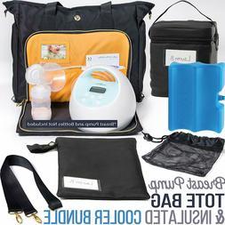 Zohzo Lauren Breast Pump Bag - Portable Tote Bag Great for T