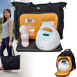 Zohzo Lauren Breast Pump Bag - Portable Tote Bag Great for T
