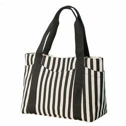 32111c90babd Lavogel Women's Tote Bag Striped Canvas ...