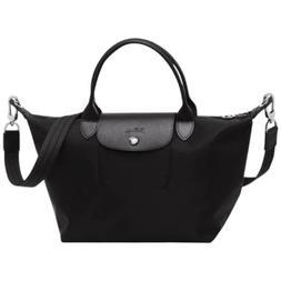 Longchamp Le Pliage Neo Black Small Tote Detachable Strap Au
