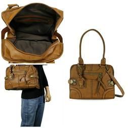 Leather Bag Vintage Women Handbag Shoulder Messenger Purse S