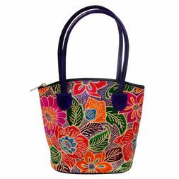Leather Handmade Tote Bag Indian Shantiniketan Boho Purse Sm