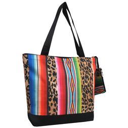 Leopard Serape NGIL® Canvas Tote Bag