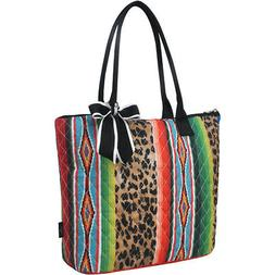 Leopard Serape NGIL® Quilted Large Ribbon Tote Bag