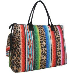 Leopard Serape NGIL® Quilted OverNight Tote Bag