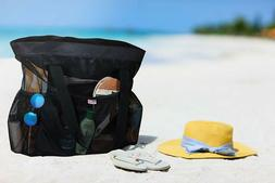 light weight mesh beach bag tote bag