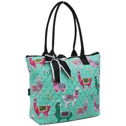 Llama NGIL® Quilted Large Ribbon Tote Bag