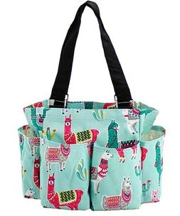 Llama NGIL Small Zippered canvas purse Caddy Organizer Tote