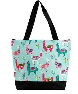 llama summer canvas purse totebag w attached