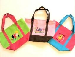 Lot of 3 Women's/Kid's Embroidered Canvas Handbags/Small Tot