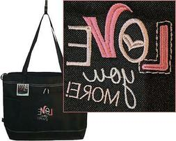 Love You More Gemline Select Zippered Tote Bag Custom Embroi