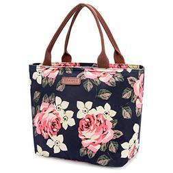 LOKASS Lunch Bag Cooler Bag Food Insulated Bag Lunch Box Tot