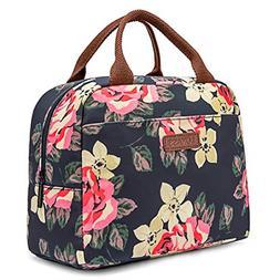 LOKASS Lunch Bag Cooler Bag Women Tote Bag Insulated Lunch B