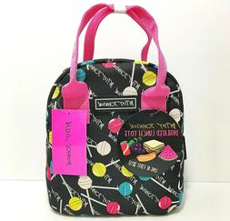 lunch tote bag lollipop candy print nwt