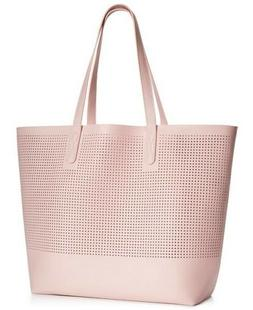 Macy's Large Mesh Tote Bag Pink Pale Shoulder Beach Gym Sh