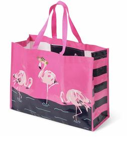 VERA BRADLEY MARKET TOTE BAG FLAMINGO FIESTA  REUSABLE BAG T