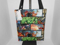 Marvel Avengers panel art inspired cotton fabric tote bag ha