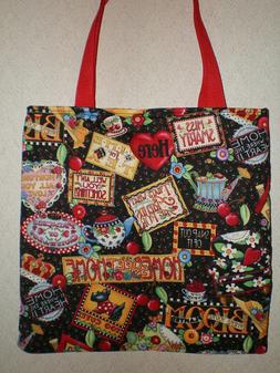 Mary Engelbreit Tote Bag Mary's Motto's Bloom Book Lunch Bag