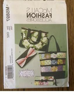 McCall's Patterns M5897 Totes and Market Bags, One Size Only