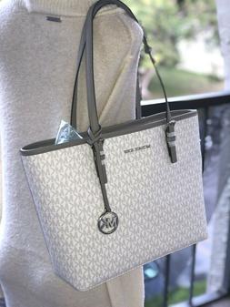 Michael Kors Medium Carryall Tote Bag Handbag Leather White