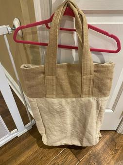 Mega Size Canvas Heavy Duty Two-Tone  Tote Bag and Back Pack