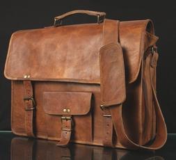 Men Leather Briefcase Shoulder Bag Casual Business Handbag T