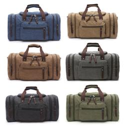 Men's Canvas Travel Shoulder Tote Bag Duffle Luggage Sport G