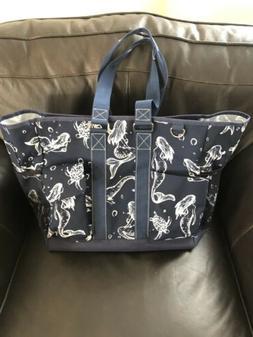 MERMAID Print NGIL Zippered Caddy Organizer Tote Bag LARGE C