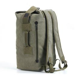 Military Duffle Bag Canvas Backpack Top Load Tote Bags Trave