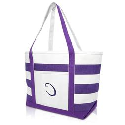 DALIX Monogrammed Beach Bag and Totes for Women Personalized