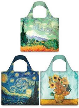 LOQI Museum Vincent Van Gogh Collection Pouch Reusable Bags,