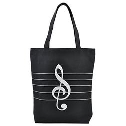 PUNK Music High Note Treble Clef Pattern Cotton Handbag Shop