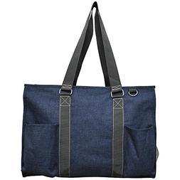 "N. Gil All Purpose Organizer 18"" Large Utility Tote Bag 3-20"
