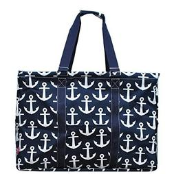 "N. Gil Multi Purpose Carry All 24"" Mega Utility Tote Bag"