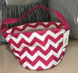 N.Gil Pink Chevron Craft Tote Bag New With Tags