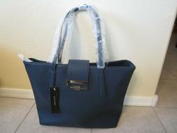Tahari navy blue tote purse handbag womens accessories ladie