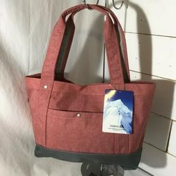 NEW Everest 1002TB-COR-GRY Stylish Tablet Tote Bag - Coral-G