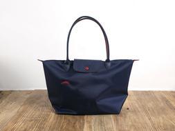 NEW Longchamp 1899 Womens Le Pliage Club Tote Bag Navy Blue