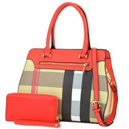 New Womens Handbag Faux Leather Satchel Bag Tote Bags Medium