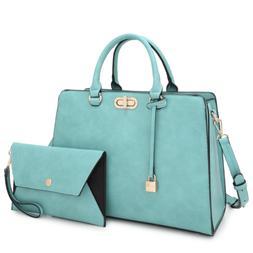 Women Handbag Set Faux Leather Satchel Shoulder Bag Purse wi