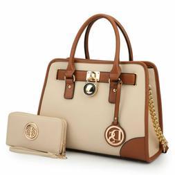Dasein Women Fashion Handbag Top Handles Satchel Tote Purse