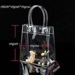 2pcs Women Clear Tote Bag PVC Transparent Handbag Shoulder S