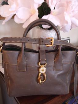 NEW Dooney & Bourke Florentine Amelia Tote BAG, QVC, CHARCOA